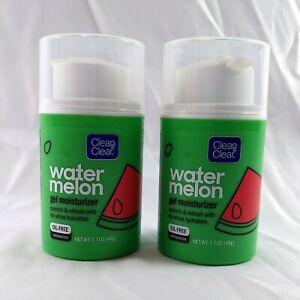 3x CLEAN & CLEAR Water Melon Gel Moisturizer Oil-Free Hydration 1.7 oz 48 g