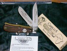 Camillus CSS-1 Safari Series Knife 1989 Cape Buffalo On R1123 Frame & Packaging