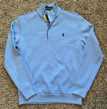 NEW Polo Ralph Lauren Performance Mens 1/4 Button Pullover Blue Size Small NWT
