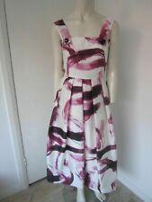 New Dolce & Gabbana Brushstroke Print Pleated Silk Dress - Size 36 Italy