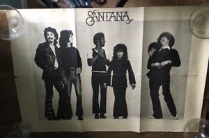 Santana Band Carlos Santana vintage music  POSTER Columbia Records