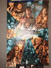 NJPW ROH signed poster (AJ Styles, Nakamura, Kevin Owens, Okada, Tanahashi ++)