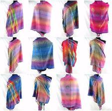 US SELLER- 12 scarves rainbow paisley butterfly mandala pashmina shawls bridal