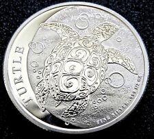 2014 1/2 OZ SILVER NEW ZEALAND MINT $1 NIUE HAWKSBILL TURTLE - BU .999 FINE