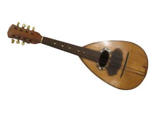 Antico mandolino napoletano acero e palissandro - fine 800 - firmato Bocciarelli