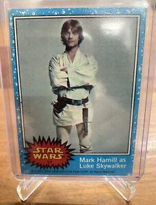 1977 Star Wars Topps 1st Series Blue #57 Mark Hamill as Luke Skywalker Rookie