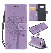 Samsung Galaxy Note 9 PU Leather Wallet Case Cover Kickstand Lavender