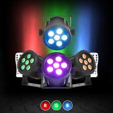 More details for led stage lighting spot wash rgb mobile dj disco corner light (x4) 6x3w remote