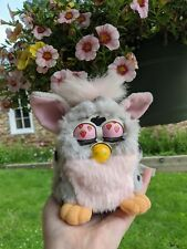 Custom pink leopard Furby 1999 (non-working) strawberry cow