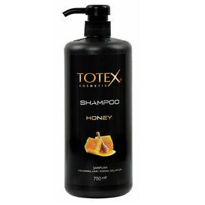 Totex Honey Hair Shampoo For All Hair Types & More Volume -Barber & Salon- 750ml