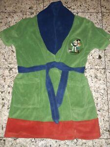 BOYS Sz 4 green blue & red TOY STORY dressing gown COMFY! DISNEY! PIXAR!