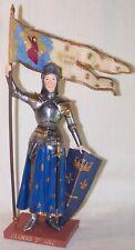 Statuette Jeanne d'Arc en armure et oriflamme