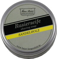 Hans Baier Exclusive Rasierseife Aludose 65g mit Sandelholz-Duft shaving soap