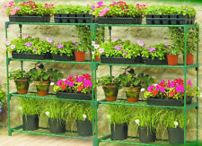 More details for 2pcs of greenhouse 4 tier staging storage steel shelving shelves racking garden