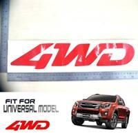 Red 4WD Logo Sticker Decal Badge Vinyl Isuzu Pick Up Universal Multi Model