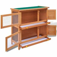 Outdoor Rabbit Hutch Wooden Pet Cage Guinea Pig Bunny Run Hen Small Animal House