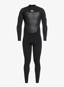 Quiksilver Syncro 4/3mm Back Zip Wetsuit - Men's - X-Large / Black/Silver (XKKS)