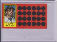 1981 TOPPS SCRATCH OFF REGGIE JACKSON CARD #3 ~ MULTIPLES AVAILABLE ~  L@@K!!!