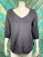 Torrid Women's Sweater Pullover Plus 2 2X Cable Chunky Knit V-Neck Wool Blend