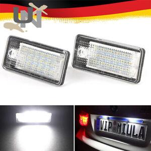 LED Kennzeichen Beleuchtung Audi A4 8E B6 B7 A3 8P Nummernschild Lampe Profi
