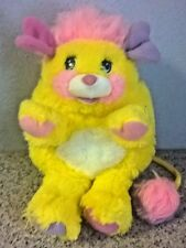 Vintage Potato Chip Popples Plush Toy Mattel 1985 Bright Yellow Pink