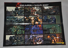 GamePro GEARS OF WAR 2007 Poster Calendar (Fold Out) Rip Tear (FAST SHIPPING!!)