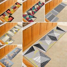 2Pcs Kitchen Floor Carpet Non-Slip Area Rug Bathroom Door Mat Set New