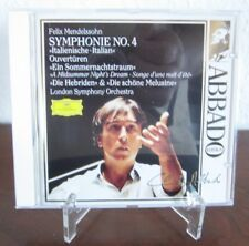 Mendelssohn: Symphonie Nr.4 - Abbado Edition - DGG 437 013-2