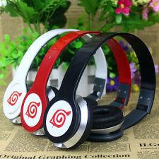 Anime NARUTO Konoha earphone Stereo deep bass foldable headband headphones & box