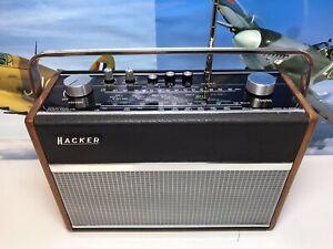 HACKER HUNTER Model RP38A Vintage 1970s Portable Radio FM-AM-LW
