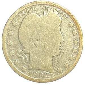 BETTER-DATE 1892-O BARBER QUARTER, CIRCULATED EXAMPLE!
