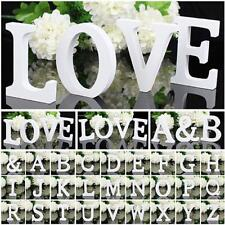 Large 26 Letters Wooden White 3D Alphabet Birthday Wedding Party Home DIY Decor
