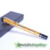 jinhao 5000 Golden Dragon orange Medium nib fountain pen new