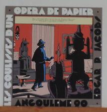 Jacobs serigraphie Blake Mortimer Opera de Papier Angouleme Archives 1990