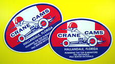 CRANE CAMS DRAG RACING Retro Stickers Decals 60's