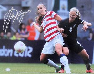 Alex Morgan Signed USA 2012 Olympic GOLD 16x20 Photo JSA