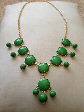 Fashion Green/Goldtone Bubble Bobble Bib Statement Necklace NEW Cheap