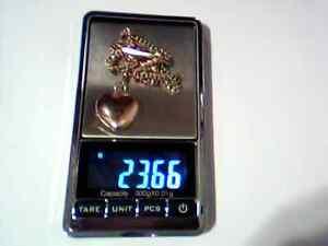 one Qing Dynasty gold necklace w/diamond birthday pendant