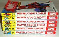 Marvel Comics Digest Archie Books Spiderman Thor Black Panther Thanos X-Men