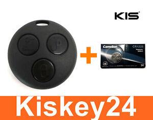 3Tasten Schlüssel Fernbedienung Gehäuse + Battterie für Smart ForTwo-MC01 450