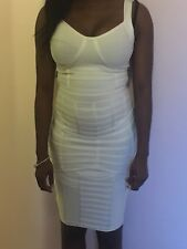 White Rayon bandage Bodycon dress