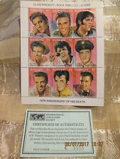 Elvis Presley15th Anniversary of Death Postage Stamp St. Vincent with COA #C5505