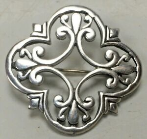 Vintage Malcolm Gray Ortak Scottish Silver Brooch