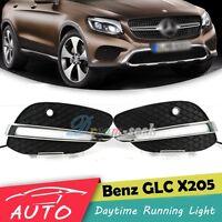 New DRL LED Daytime Running Light Fog Lamp For Mercedes Benz GLC Class 2015-2019
