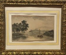 Tableau Peinture Cadre 18è XVIIIè 19è XIXè Réalisme Paysage Marine rare ancien