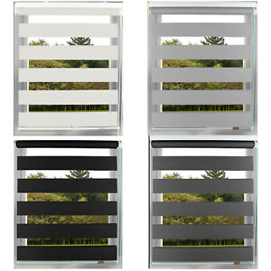 Day and Night Zebra/Vision Window Roller Blinds 4 Colours, 5 Sizes, 150cm Drop