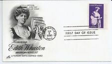 US Scott #1832, First Day Cover 9/5/80 New Haven Single Edith Wharton
