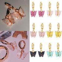 Fashion Butterfly Acrylic Insect Earrings Women Boho Dangle Drop Earring Cute