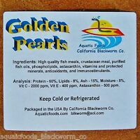 Golden Pearls 1/4-lb  Fry, Corals, Reef Tanks, Betta, Discus, Cichlid, Baby Food