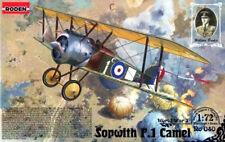 SOPWITH F1 CAMEL (BRITISH RAF/RFC/RNAS & WHITE RUSSIAN AF MARKINGS) 1/72 RODEN